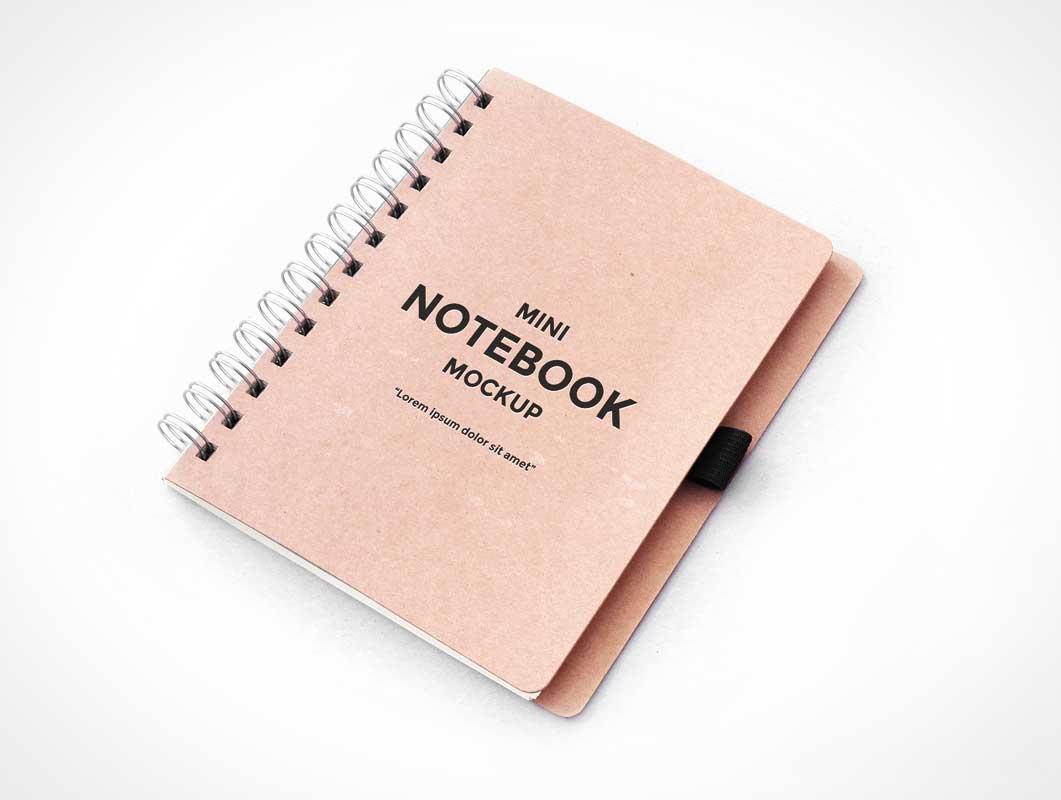 Metal Ring Bound PSD Mockup Sketch Notebook