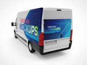 Mini Van Cargo PSD Mockups Front Rear and Sideview