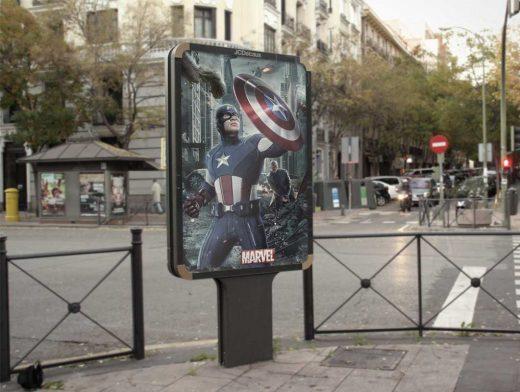 Outdoor Advertising PSD Mockup Street Sign