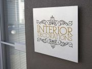 Outdoor Company Sign PSD Mockup Office Plaque