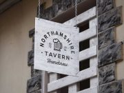 Outdoor Tavern Sign PSD Mockup Painted Wood