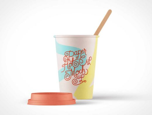 PSD Mockup of Paper Hot Cup Template Vol4