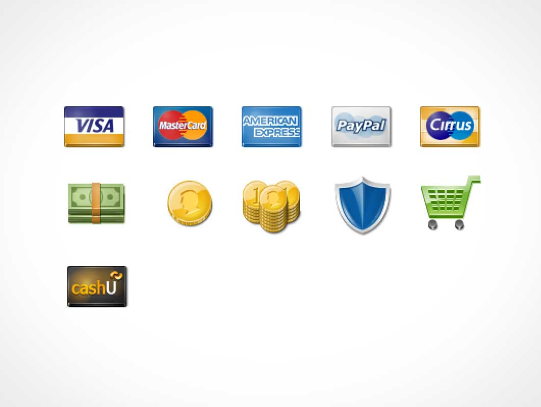 Payment Icon Set PNG