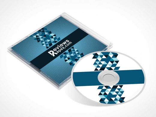 Photorealistic CD And Jewel Case PSD Mockup With Booklet