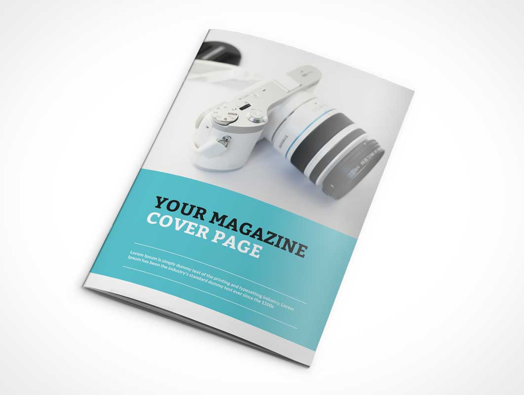 Photorealistic Catalogue Magazine PSD Mockup Cover Back and Closed