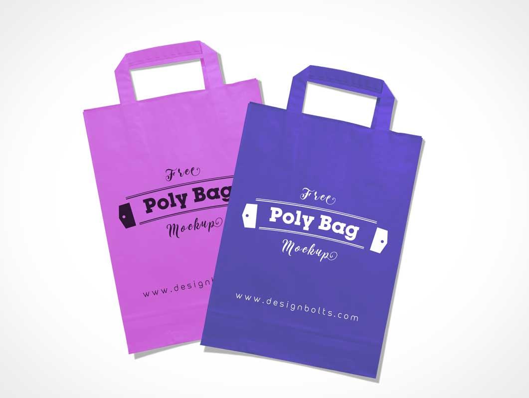 Plastic Polly Shopping Bag PSD Mockup