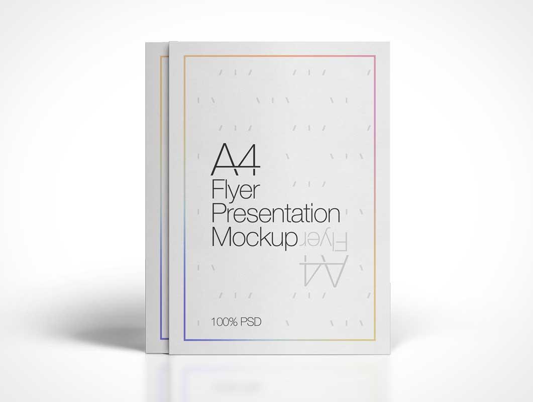 Portrait Mode A4 Flyer PSD Mockup