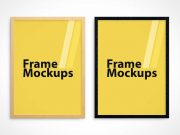 Poster PSD Mockup With Multiple Frame Styles