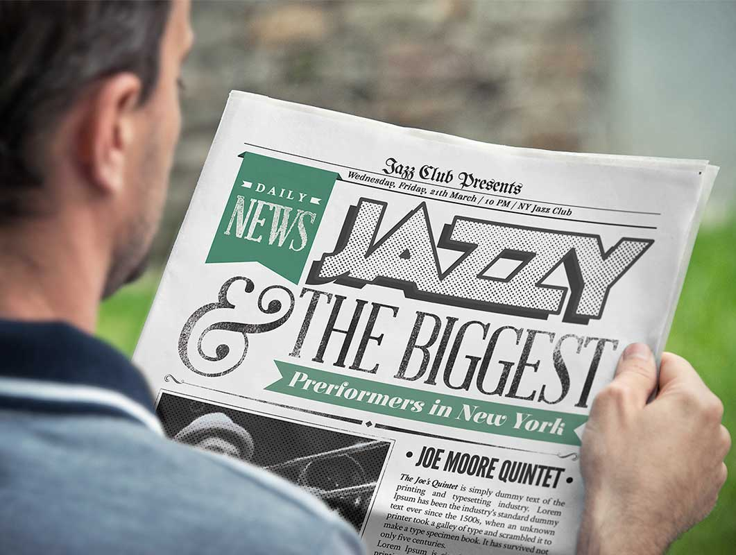 Realistic Front And Back Newspaper PSD Mockup