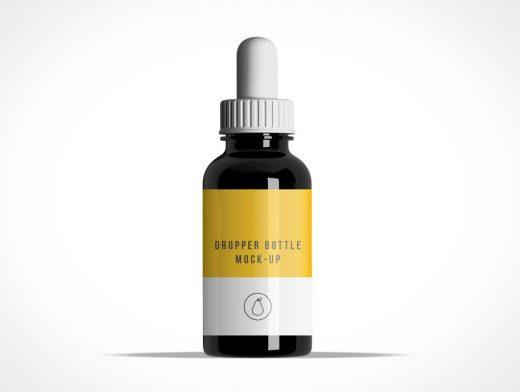 Rubber Squeeze Dropper PSD Mockup Medicin Bottle