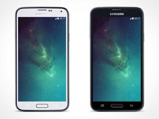 Samsung Android Galaxy S5 PSD Mockup