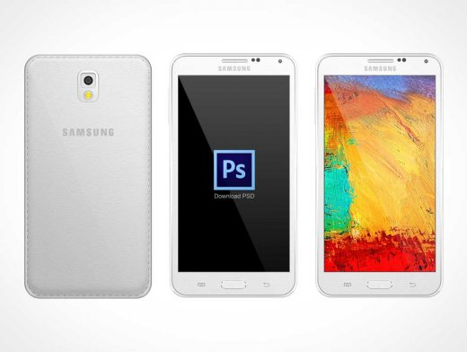 Samsung Note 3 PSD Mockup Portrait Mode