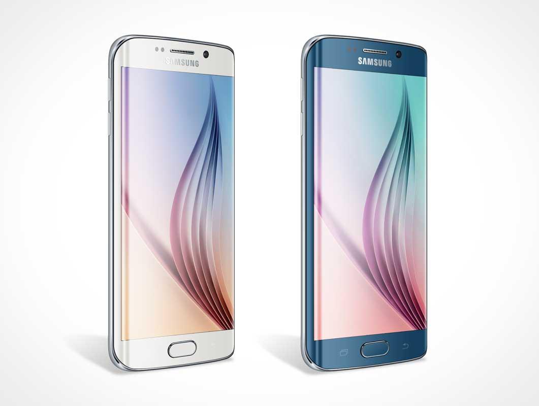 Samsung S6 Edge PSD Mockup Side By Side