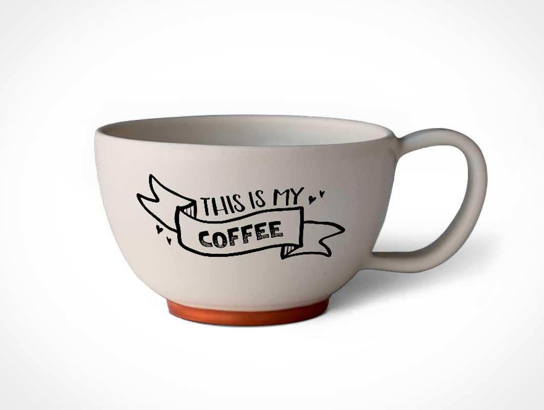 Short Tea Ceramic Cup PSD Mockup