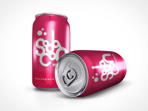 Soda Can PSD Mockups Product Shot