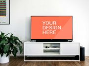 Sony LCD TV PSD Mockup Living Room Scene