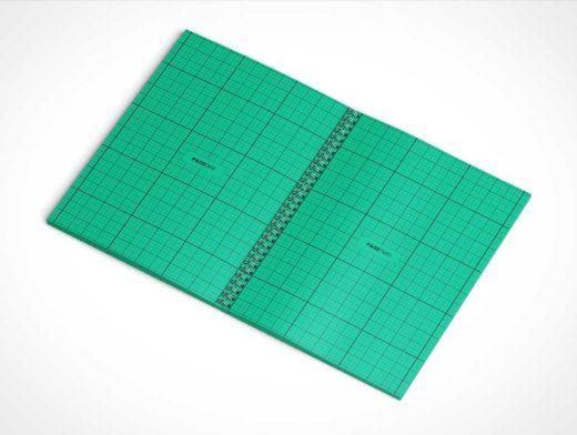 Spiral Sketchbook PSD Mockup