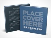 Square Children's Book PSD Mockup Front and Back Covers