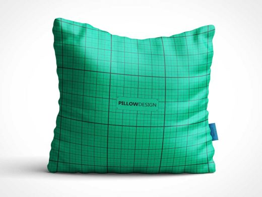 Square Throw Pillow PSD Mockup