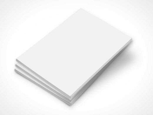 Stack of 3 Magazine PSD Mockup Covers
