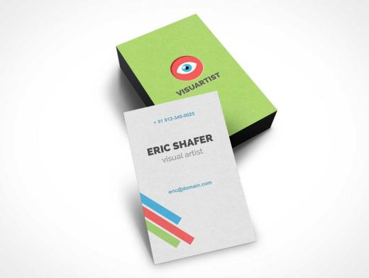 Stacked Business Card PSD Mockup
