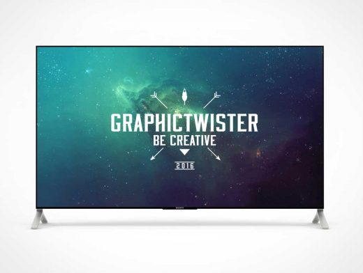 Standing 4K PSD Mockup TV Screen