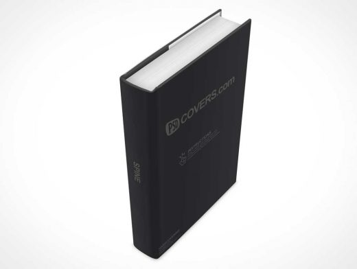 Standing Hardcover Above View PSD Mockup Render