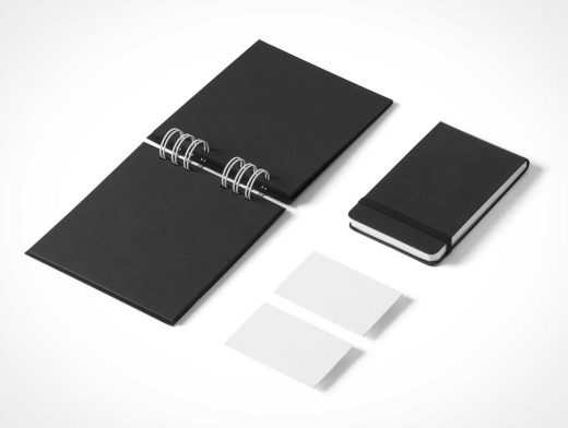 Stationery Branding PSD Mockup With Pocket Notebook