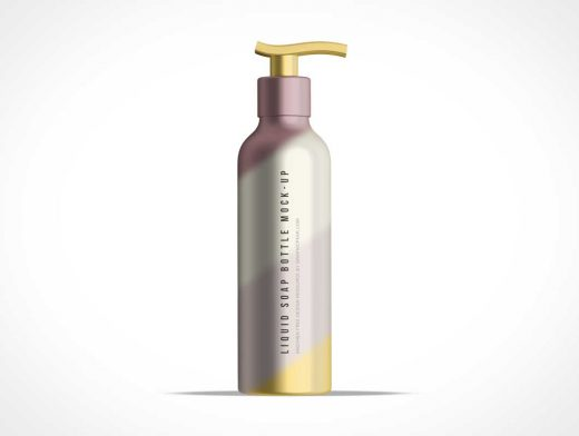 Tall Bottle of Liquid Soap PSD Mockup Dispenser