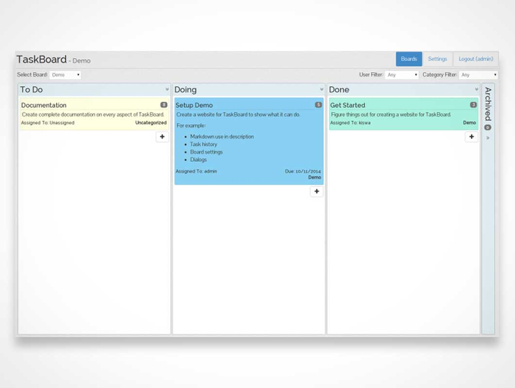 TaskBoard: A simple, visual way to keep track of what needs to get done