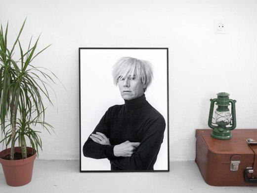 Thin Frame Poster PSD Mockup Scene