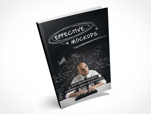 Tipping 6 x 9 Paperback PSD Mockup