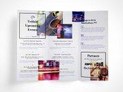 Tri Fold Brochure PSD Mockup Unfolded Vol7