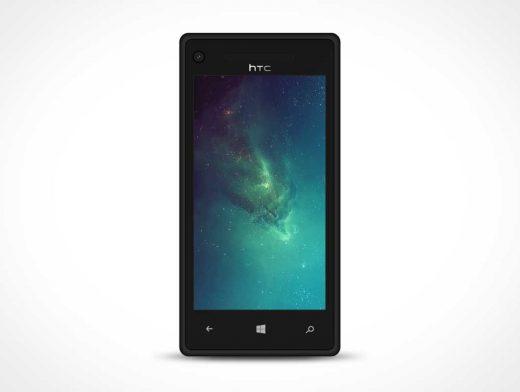 Windows Phone 8X PSD Mockup Portrait Mode