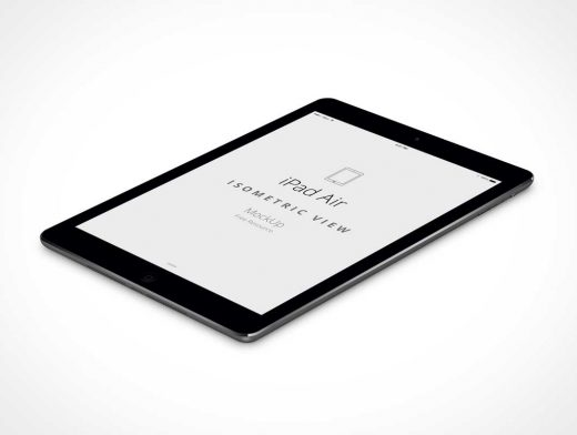 iPad Air PSD Mockup With Isometric Perspective