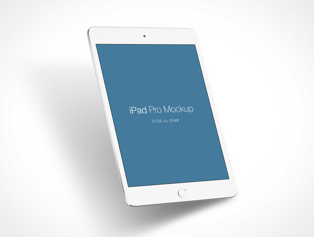 iPad Pro PSD Mockup White Model