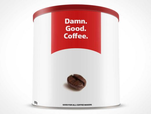 32oz Can PSD Mockup for Ground Coffee