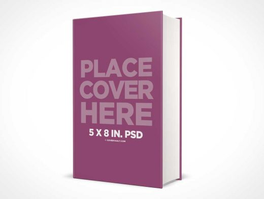 5 x 8 Hardcover PSD Mockup Thick Spine Book