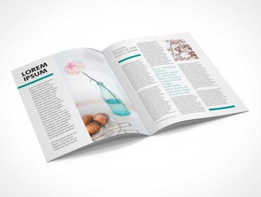 A4 Magazine Brochure PSD Mockup Catalog