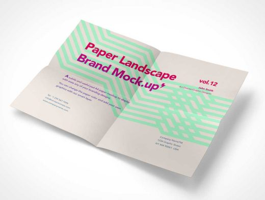A4 Paper Letterhead PSD Mockup With Fold Lines