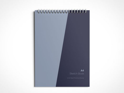 A4 Sketch Book PSD Mockup Spiral Bound