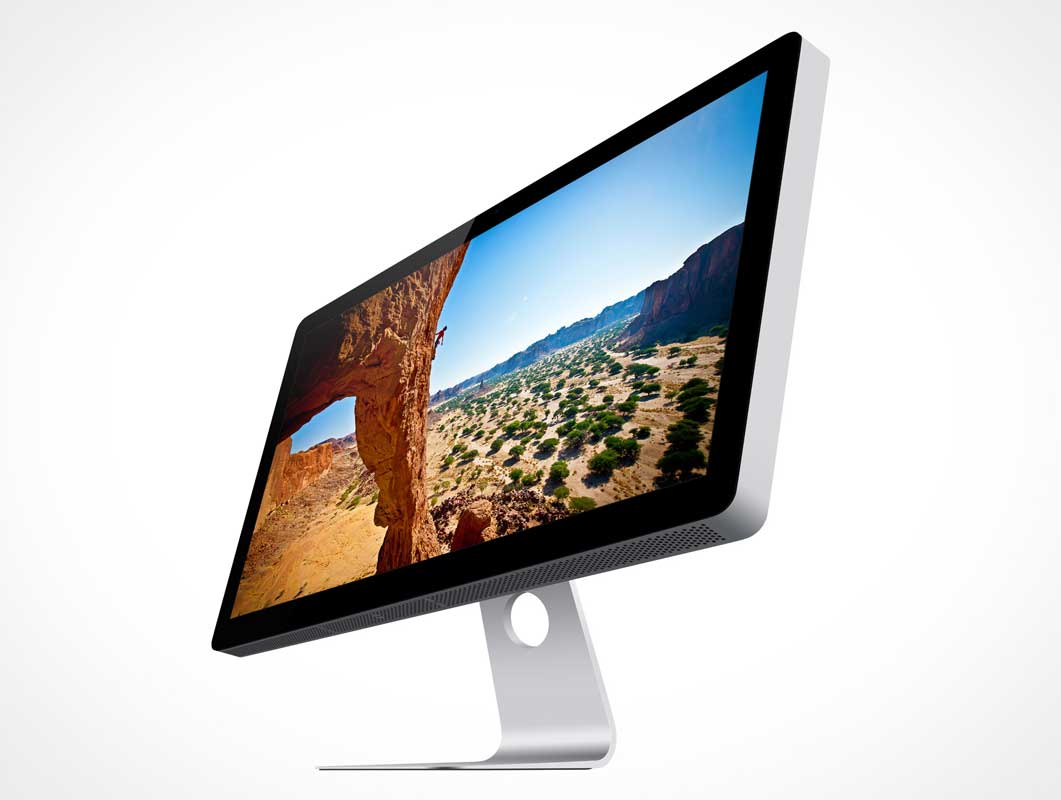 Apple Thunderbolt Cinema Display 27in PSD Mockup
