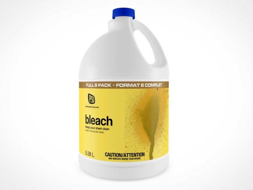 Bleach Bottle PSD Mockup White Plastic