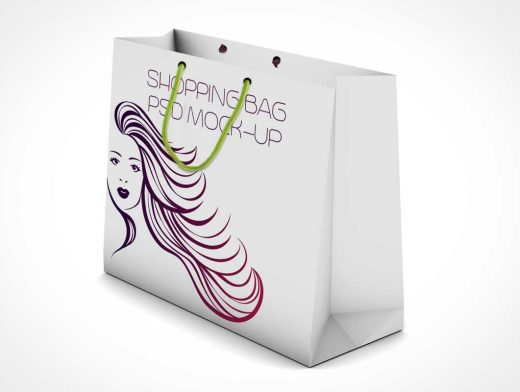 Boutique Shopping Bag PSD Mockup Standing With Carry Handles