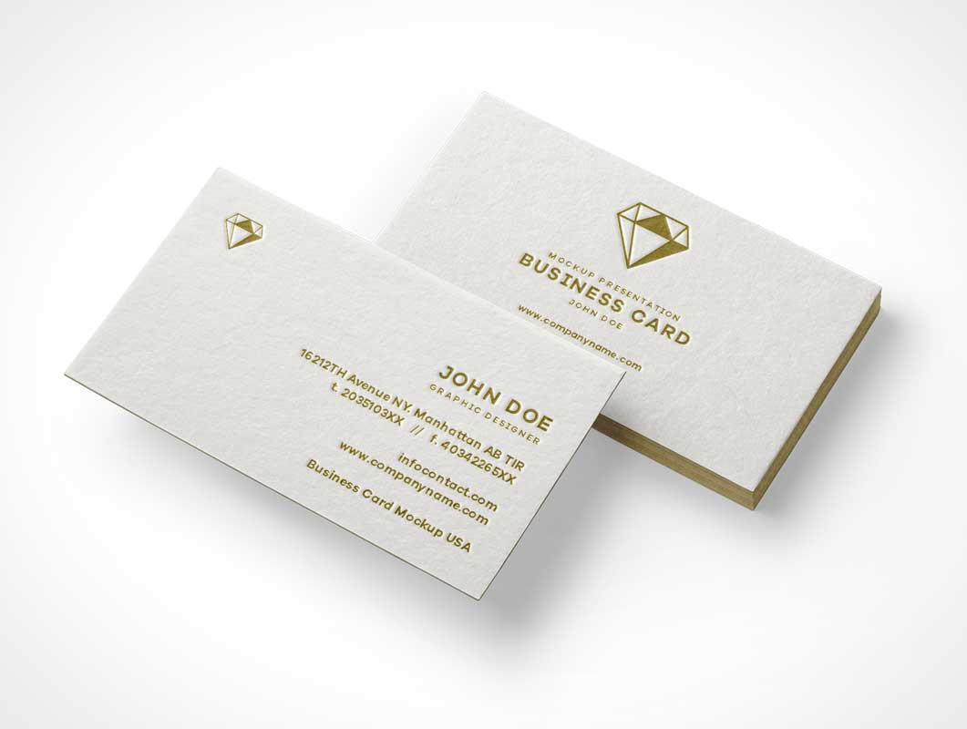 Business Card Mini Stack PSD Mockup - PSD Mockups