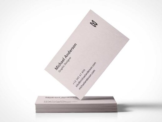 Business Card Stack PSD Mockup Showcasing Your Brand