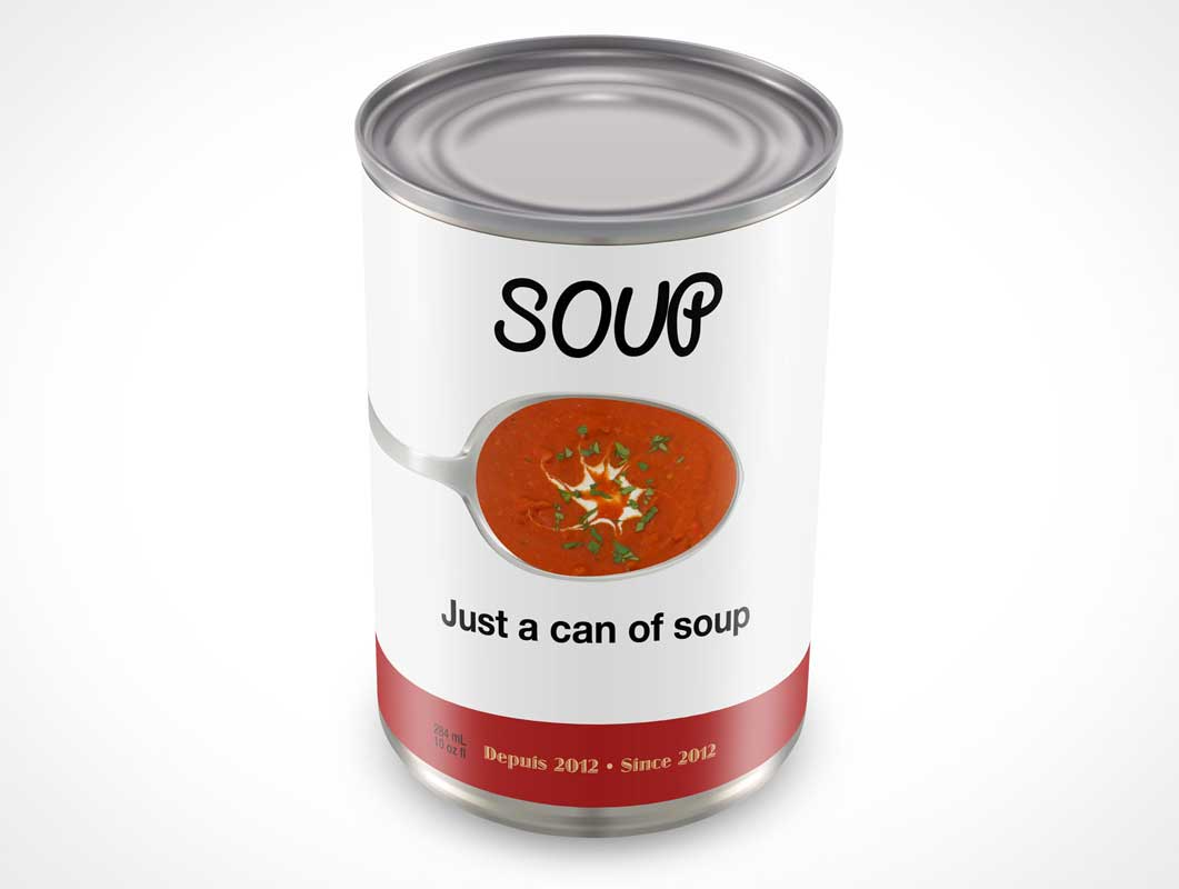 Can PSD Mockup For Canned Goods