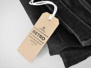 Cardboard Tag PSD Mockup Clothing Label with String