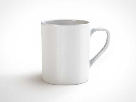 Classic Ceramic Coffee Mug PSD Mockup