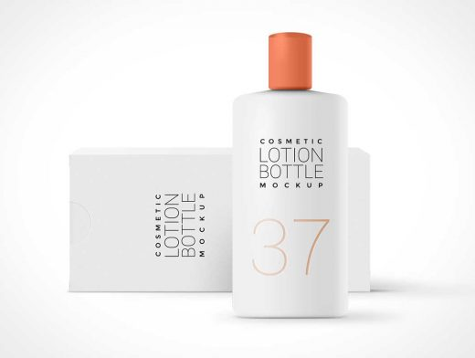 Cosmetic Lotion PSD Mockup Bottle Packaging